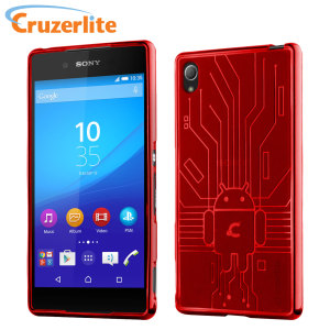 Keep your Sony Xperia Z3+ protected from damage with this Android-circuitry inspired, durable red coloured TPU case by Cruzerlite.