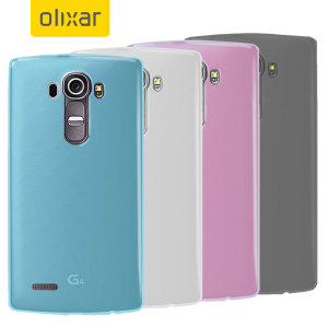 Pack 4 coques LG G4 Olixar Flexishield – Multicolore