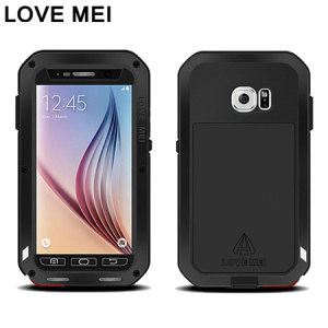 Protect your Samsung Galaxy S6 with one of the toughest and most protective cases on the market, ideal for helping to prevent possible damage from water and dust - this is the black Love Mei Powerful Protective Case.