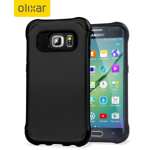 Give your Samsung Galaxy S6 Edge optimum drop protection with this incredibly sleek and impact-resistant ArmourLite case in black from Olixar.