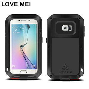 Protect your Samsung Galaxy S6 Edge with one of the toughest and most protective cases on the market, ideal for helping to prevent possible damage from water and dust - this is the black Love Mei Powerful Protective Case.