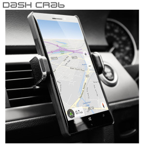 Dash Crab MONO Premium Leather Car Vent Mount - Black