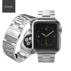 With this beautiful stainless steel link bracelet in silver from Hoco, express yourself and customise your new Series 3 / 2 / 1 Apple Watch 42mm to suit your personal sense of style.