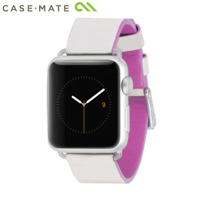 Bracelet Apple Watch 2 / 1 38mm Case-Mate Cuir Véritable Ivoire / Rose
