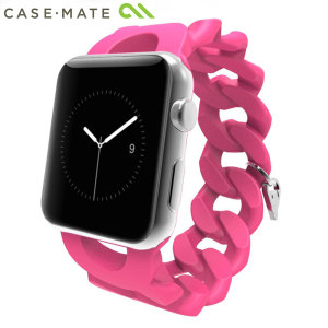 With this beautiful pink Case-Mate Turnlock wrist strap crafted from flexible elastomer, express yourself and customise your beautiful new Series 2 / 1 Apple Watch 38mm to suit your personal sense of style complete with signature charm.