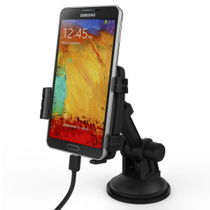Keep your smartphone in view and fully charged while driving with the in-car mount cradle that supports in-car charging. Perfect for using your phone as a sat nav.