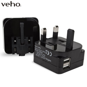 Designed to quickly charge tablets, smartphones and so much more, the Veho Universal Folding Dual USB Mains Adapter delivers 2.1 Amps to fast-charge even the largest of devices. Compact and portable this universal charger can be taken anywhere.