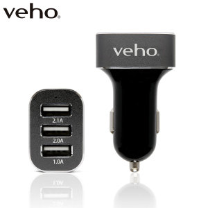 Charge up to 3 USB devices at the same time with the Veho VAA-010 Triple Port 5.1A Car Charger! This must have car charging accessory will charge your smartphone, tablet and another device simultaneously. Welcome to the only in-car charger you will need.