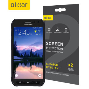 Keep your Samsung Galaxy S6 Active screen in pristine condition with this twin pack of Olixar scratch-resistant screen protectors.