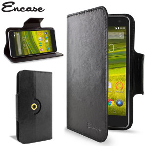 Encase Rotating Leather-Style EE Harrier Mini Wallet Case - Black