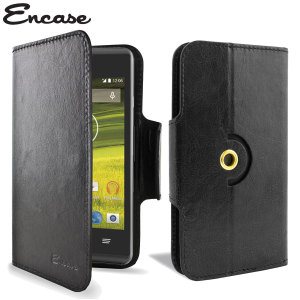 Wrap your EE Rook in luxurious, sophisticated protection with the black Encase Leather-Style Wallet Stand Case. This stylish case has credit card slots and can transform into a convenient viewing stand which rotates between portrait and landscape.
