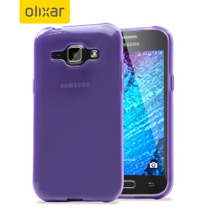 Custom moulded for the Samsung Galaxy J1 2015, this purple Olixar FlexiShield case provides slim fitting and durable protection against damage.