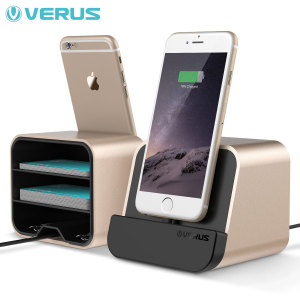 This attractive charge and sync dock in gold ensures your smartphone or tablet is always at hand, viewing notifications at a glance and keeps your device fully charged while allowing you to transfer data between your phone and a computer.