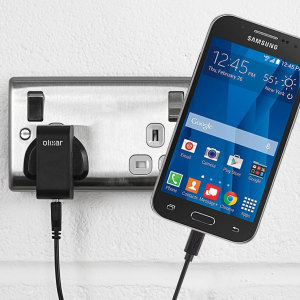 Charge your Samsung Galaxy Core Prime quickly and conveniently with this compatible 2.5A high power charging kit. Featuring mains adapter and USB cable.