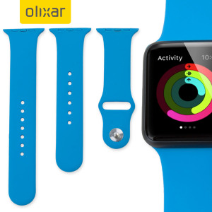 Bracelet Apple Watch 2 / 1 Olixar Sport Silicone 3-en-1 - 42mm - Bleu