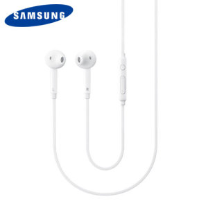 The S6 stereo headset comes in a classic white design that provides a comfortable fit. The official Samsung Galaxy S6 earphones also provide exceptional sound reproduction and enable you to handle calls handsfree thanks to the mic and volume controls.