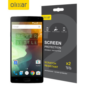 Keep your OnePlus 2's screen in pristine condition with this Olixar scratch-resistant screen protector 2-in-1 pack. Ultra responsive and easy to apply, these screen protectors are the ideal way to keep your display looking brand new.