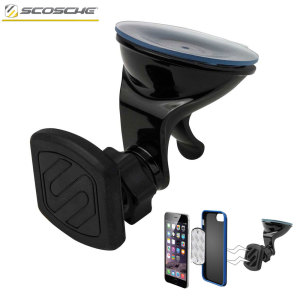 Magnetically attach and position your smartphone or tablet securely in your car with the fully adjustable, no-nonsense and easy-to-use Scosche Magic Mount Universal In-Car smartphone & tablet holder for your vehicle's window or dashboard.