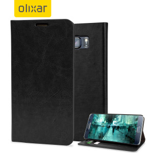 Olixar Leather-Style Samsung Galaxy Note 5 Wallet Case - Black