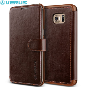 Housse Portefeuille Samsung Galaxy S6 Edge+ Verus Dandy - Marron