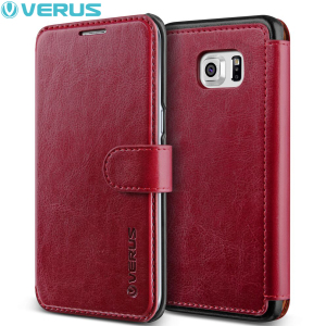 Housse Portefeuille Samsung Galaxy S6 Edge+ Verus Dandy - Rouge Vin
