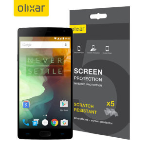 Keep your OnePlus 2's screen in pristine condition with this Olixar scratch-resistant screen protector 5-in-1 pack. Ultra responsive and easy to apply, these screen protectors are the ideal way to keep your display looking brand new.