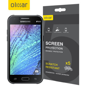 Olixar Samsung Galaxy J1 Displayschutz 5-in-1 Pack