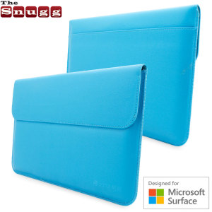 Protect your Microsoft Surface 3 from bangs and bumps with the cyan blue leather-style wallet case from Snugg. Officially designed for Surface.