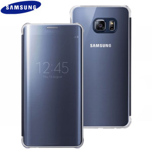 Clear View Cover Samsung Galaxy S6 Edge+ Officielle – Bleu foncé