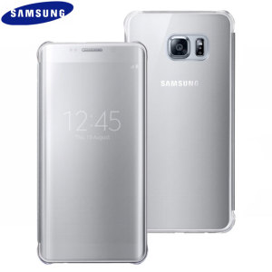 Funda Oficial Samsung Galaxy S6 Edge+ Clear View Cover- Plata