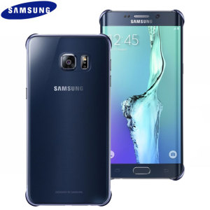 Funda Oficial Samsung Galaxy S6 Edge+ Clear Cover- Azul / Negra