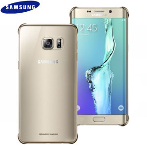 Funda Oficial Samsung Galaxy S6 Edge+ Clear Cover- Dorada