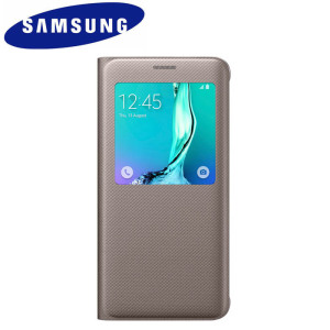 S View Cover Officielle Samsung Galaxy S6 Edge+ – Or