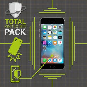 Protégez votre iPhone 6 Plus des dommages avec cette ensemble de protection de la marque Olixar. Dotée d'une coque en polycarbonate mince et d'une protection en verre trempé, ce pack offre le summum en matière de protection légère.