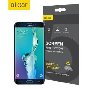 Gardez l'écran de votre Samsung Galaxy S6 Edge + en parfait état grâce à ce pack de 5 protections d'écran anti-rayures de marque Olixar.