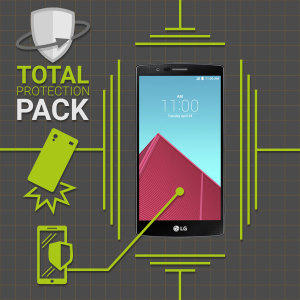 Guard your beautiful LG G4 from damage with the Olixar Total Protection Pack. Featuring an ultra-slim case and an ultra-response glass screen protector, this pack provides the ultimate in lightweight protection.