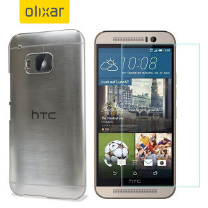 Guard your beautiful HTC One M9 from damage with the Olixar Total Protection Pack. Featuring a slim polycarbonate case and an ultra-response glass screen protector, this pack provides the ultimate in lightweight protection.