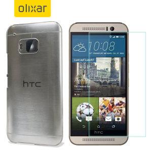 Protégez votre beau HTC One M9  de dommages avec le Total Protection pack Olixar. Doté d'un boîtier en polycarbonate mince et ultra-réponse protecteur d'écran de verre, ce pack offre le summum en matière de protection légère.