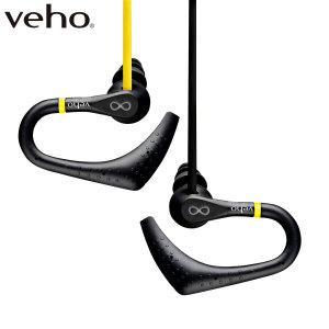 Veho 360 ZS-2 Water-Resistant Flat Flex Cord Sports Earphones