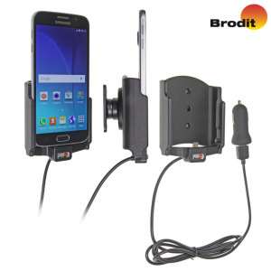 Charge and use your Samsung Galaxy S6 in your vehicle with this Brodit active holder with tilt swivel and an approved charging cable.