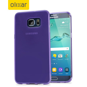Custom moulded for the Samsung Galaxy S6 Edge+, this purple FlexiShield case by Olixar provides slim fitting and durable protection against damage.