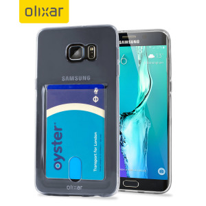 Custom moulded for the Samsung Galaxy S6 Edge+. This crystal clear FlexiShield Slot case provides a slim fitting stylish design and durable protection against damage, while adding the convenience of a card slot into the bargain!
