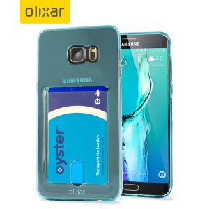 Coque Gel Samsung Galaxy S6 Edge Plus Flexishield Slot - Bleu