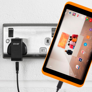Charge your Tesco Hudl 2 quickly and conveniently with this compatible 2.5A high power charging kit. Featuring mains adapter and USB cable.