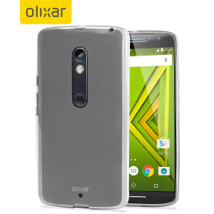 Custom moulded for the Moto X Play, the FlexiShield case in frost white provides slim fitting, stylish design and protection against damage, keeping your device looking great at all times.