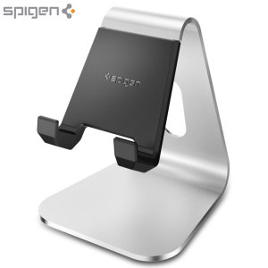 Display your mobile device with this stylish and minimalist brushed aluminium stand. The cut-out keeps your charging cable in good order and your desk tidy, while the TPU grips hold your device in portrait or landscape view securely.