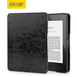 Olixar Leather-Style Kindle Paperwhite Case - Black