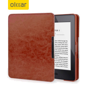 This stylish brown leather-style folio case from Olixar will protect your Kindle Paperwhite 3 / 2 / 1 from all kinds of knocks. The featured hand strap also makes it very easy to use.