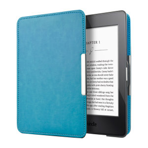 This stylish blue leather-style folio case from Olixar will protect your Kindle Paperwhite 3 / 2 / 1 from all kinds of knocks. The featured hand strap also makes it very easy to use.