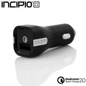 Take mobile charging to a whole new level with the Incipio Qualcomm Quick Charge 2.0 compatible USB car charger. Made from high quality materials, the Incipio charger is sure to integrate perfectly within the car whilst providing extreme charging speeds.